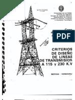 Criterios de diseño  para de lineas de transmision de 115kv y 230kv