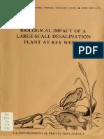 Biological Impact Og a Large-Scale Desalination Plant at Key West