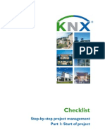 KNX Checklist Project Start en Screen