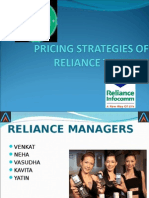 Pricing Strategies of Reliance Telecom