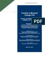 Franklin&Marshall March Poll