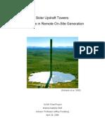 Solar Updraft Towers