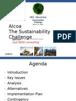 Alcoa - HEC Sustainability Challenge