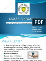 Lease Financing Ppt for FS