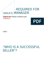 Skilles Required for Sales Manager