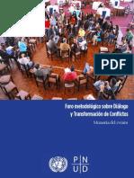 Memoria del Foro Metodológico sobre Diálogo y Transformación de Conflictos
