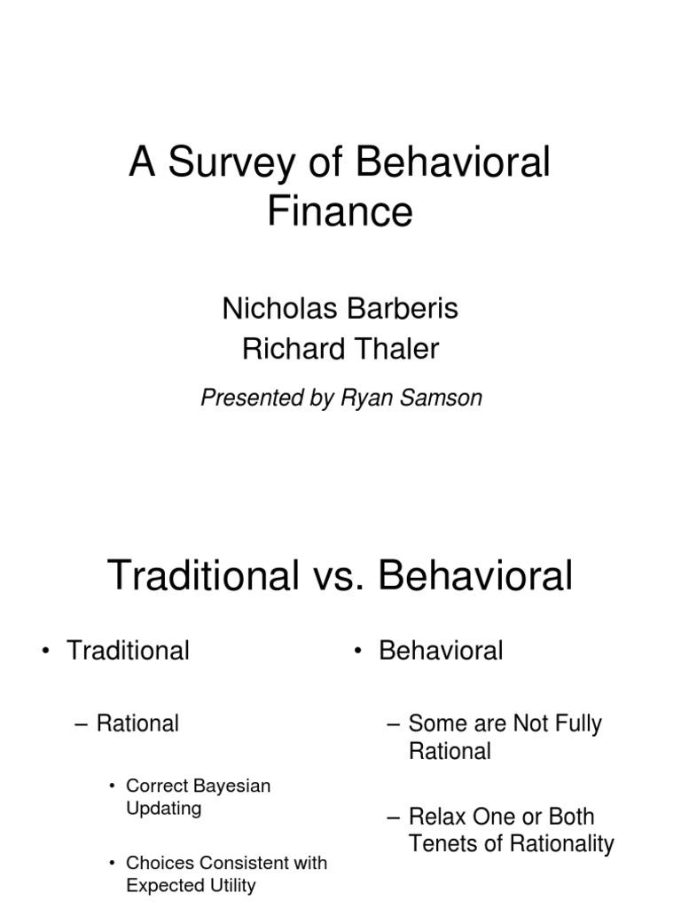 a survey of behavioral finance