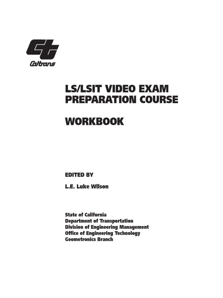 ls lsit video exam preparation course workbook trigonometric rh scribd com caltrans survey manual chapter 4 caltrans • survey manual