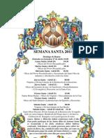 Horario Semana Santa 2011
