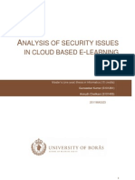 Analysis of Security Issues in Cloud Based E-learning