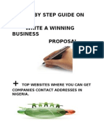 Step by Step Guide on Business Proposal Writing