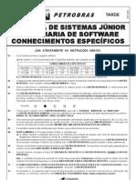 Tarde - Prova 05 - Analista de Sistemas Junior - Engenharia de Software - Conhecimentos Especificos