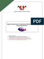 Bases Competición AEFA Temporada 2010-2011