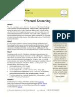 Prenatal Screening