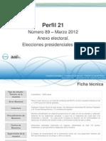 Perfil 21 - Anexo Electoral - Marzo 2012