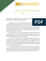 INSTRUÇÃO NORMATIVA N001-2003 IPHAN