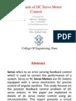 DC Servo Motor Control