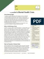 Children\'s Mental Health Crisis