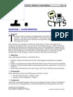 1.Case Study CTTS - Milestone 01 Scope Definition