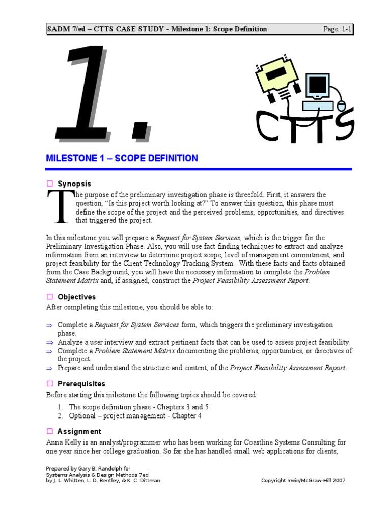 case study ctts milestone 3 solution