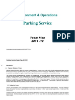Barnet Council Parking Service Team Plan 2011-12
