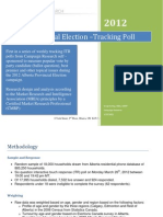 Alberta Provincial Election Tracking March 26