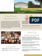 Hannibal Country Club April Newsletter