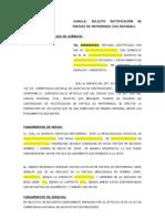 Formato de Solicitud de Rectificacion de Partida de Matromonio (via Notarial)