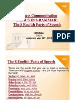 GRAMMAR NEW ONE 2011 2012 The 8 English Parts of Speech [Mode de compatibilité]