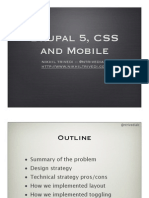 Drupal 5, CSS and mobile