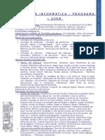 Programa de Informática 2009