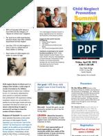 Child Neglect Prevention Summit Brochure Pub