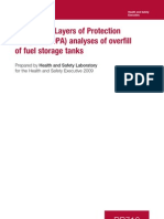 LOPA Analyses of Overfill of Fuel Storage Tanks