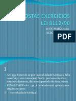 Respostas Exercicios Lei 8112