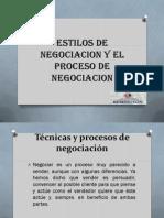 Tecnicas y Procesos de Negociacion