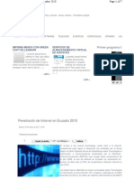 Penetracion Internet Ecuador