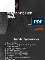 burger king case analysis Burger king or mcdonalds in the united states, these two companies equally compete for consumers americans usually favor one company in the case study one of the reasons why burger king is unsuccessful in japan is because they are trying to push western culture in an eastern market.