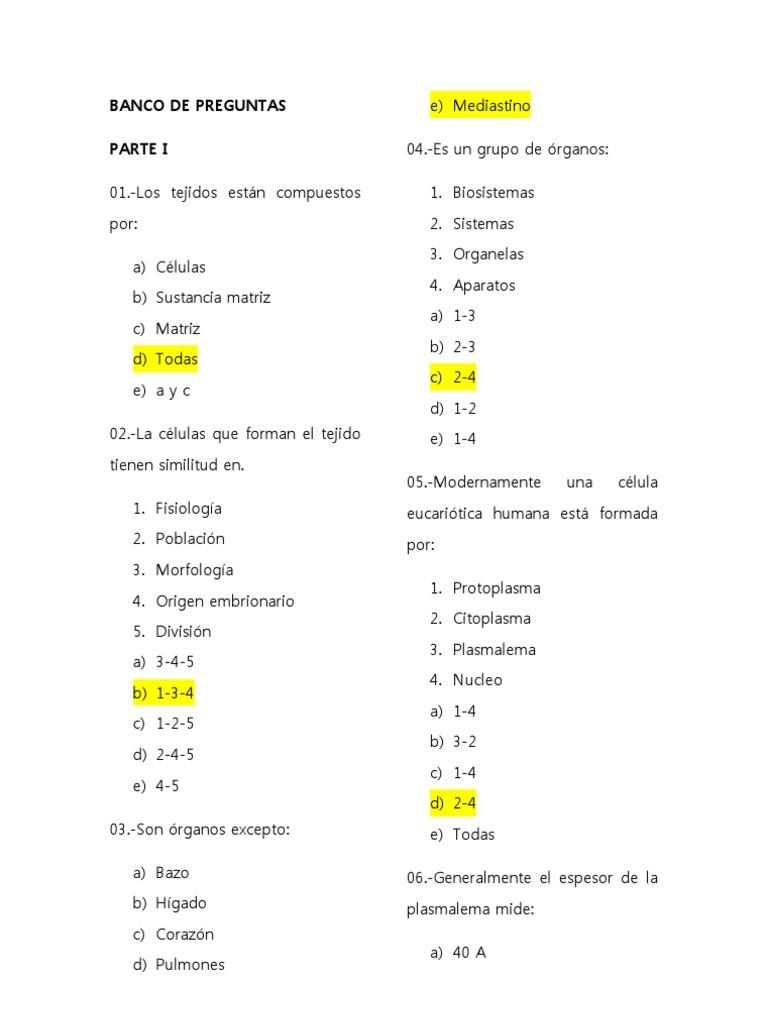 Asombroso Michigan Preguntas Anatomía Universidad Motivo - Anatomía ...