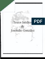 Textos Ineditos de Josemilio Gonzalez