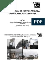 Transición de fósiles de a energia renovable