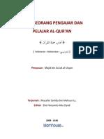 Adab Pengajar Dan Yang Belajar Qur'An