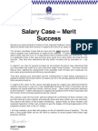 Circular 21 Salary Case Merit Decision