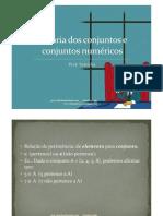 SLIDE Teoria dos conjuntos e conjuntos numéricos Terceirão_1