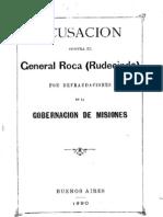 Defraudacion Del General Rudecindo Roca