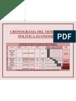 CRONOGRAMA DE ACTIVIDADES PARA LA REALIZACIÓN Y ENTREGA DEL MODELO DE