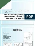 ALCALOIDES QUINOLÍNICOS