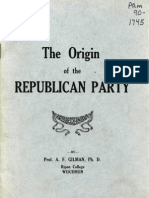 The Origin of the Republican Party Booklet