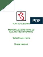Plan de Gobierno Burgos 2011-2014
