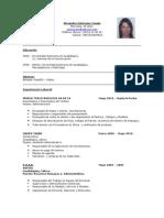 Curriculum Alejandra Solórzano