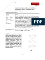 Isolation Purification and Identification of Curcuminoids